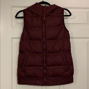 lululemon Reversible Maroon Puffer Vest